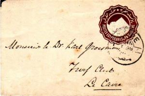 Egypt 1m Sphinx and Pyramid Envelope 1898 Caire Local use.