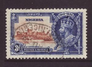 1935 Nigeria 3d Silver Jubilee Fine Used