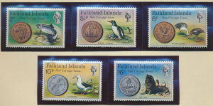 Falkland Islands Stamps Scott #245 To 249, Mint Never Hinged - Free U.S. Ship...