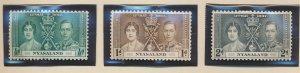 Nyasaland Protectorate Stamps Scott #51 To 53, Mint Hinged - Free U.S. Shippi...