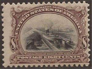 US Stamp 1901 8c Pan-American Expo  #298 w/Sharp Image, Deep Color MHR