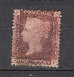 J26373  jlstamps 1864 great britain plate #98 used #33 queen
