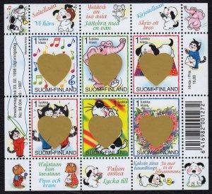 Finland 1998 St. Valentine's Day Surprises MNH Miniature Sheet SC 1072 CV $15