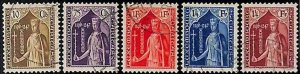 94917a  - LUXEMBOURG  - STAMPS  -  Yvert # 239 / 243 -  Very Fine USED