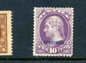O29S Justice Dept. Special Printing Specimen Official Stamp (Stock O29-4)