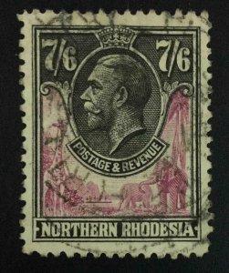 MOMEN: NORTHERN RHODESIA SG #15 1925 USED £300 LOT #63563