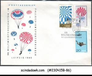 GERMANY - 1966 8th WORLD PARACHUTE JUMPING CHAMPIONSHIP - 3V - FDC