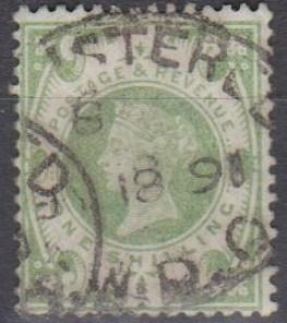Great Britain #122 F-VF Used CV $60.00 (A9932)