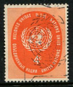 63 UN NY 4c UN Seal, used