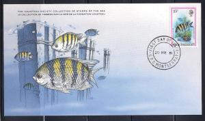 Montserrat FDC card Sc 449 Cousteau Soc. Sargent Major  L109