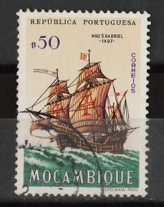 Mozambique 1963 Portuguese ships 50c (1/20) USED