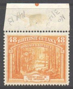 British Guiana Scott 236a - SG314a, 1938 George VI 48c Perf 14 x 13 MH*