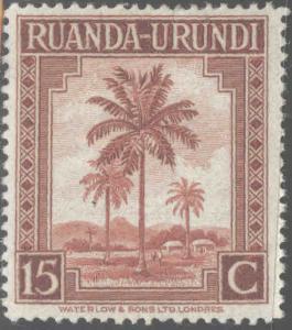 Ruanda-Urundi Scott 70 MH* from 1942-43 set