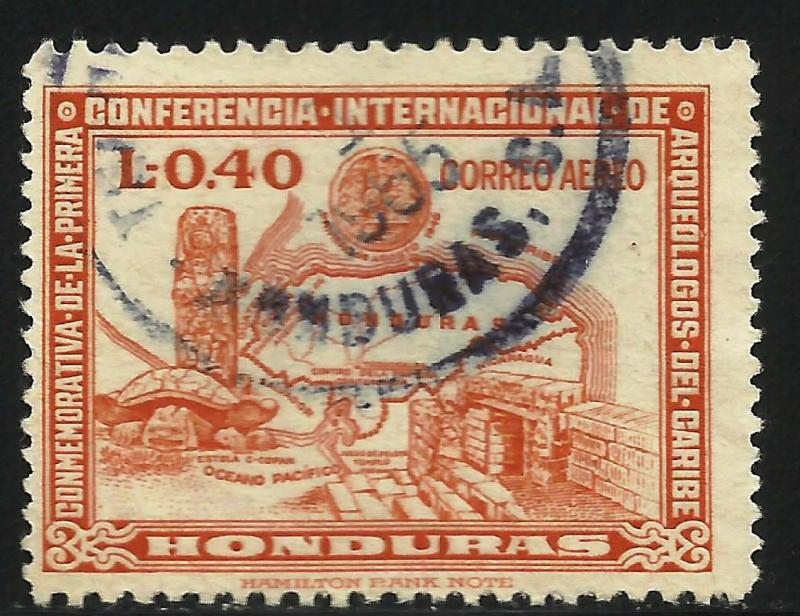 Honduras Air Mail 1947 Scott# C166 Used