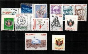 Monaco Scott 2380 // 2540 Mint NH sets (Catalog Value $50.05)