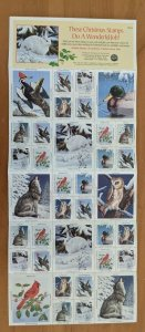 1992 National Wildlife Federation-Conservation Christmas Stamps Full Sheet of 36
