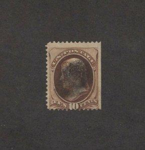 Scott 161 - Jefferson 10 Cent. Single. Used.   #02 161