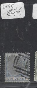 TURKS  ISLANDS (P3009B)  QV 2 1/2 D  SG 65       VFU