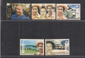 VANUATU SC# 555-59   FVF/MNH   1992