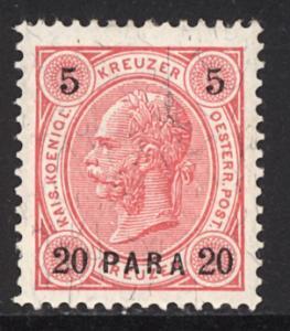 Austria Turkey 1890  Scott #22 MLH