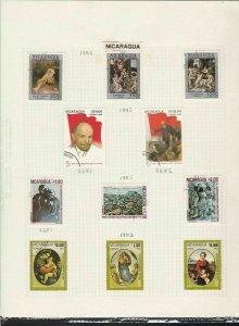 nicaragua 1982-1985 stamps page ref 18094