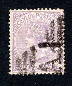Ceylon #67,  F/VF, Used, CV $3.00 ....  1290056