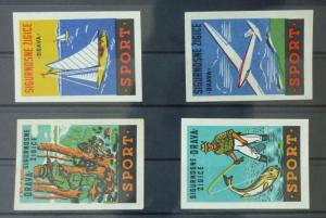 Match Box Labels ! sport fisherman yacht boat airplane hunter GN55