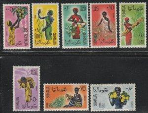 Somalia #250-257 Mint Lightly Hinged Full Set of 8 cv $5.35