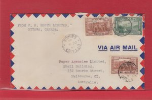 90 cent TransPacific Air mail 1940 to AUSTRALIA from Canada