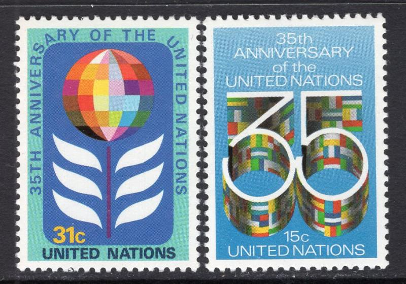 UN New York 322-323 MNH VF