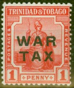 Trinidad & Tobago 1917 1d Red SG184 Fine MNH