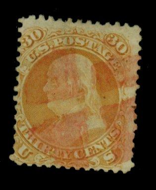 71 Used Fine REd cancel Sht perf Cat$221