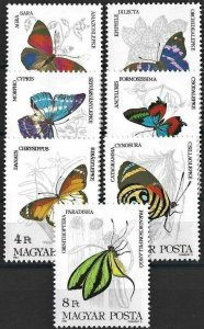 1984 Hungary Butterflies, Farfalle, Papillons complete set VF/MNH! LOOK!