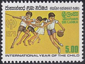 Sri Lanka # 555 mnh ~ 5r Children with Rope and Ball