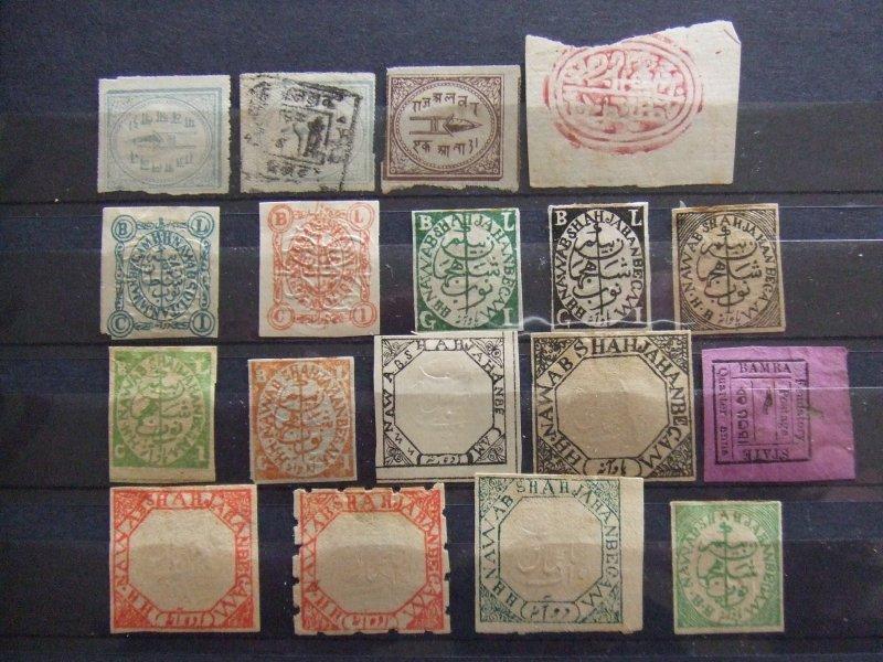 Indian States collection - Alwar, Bamra, Bhopal, Bhor