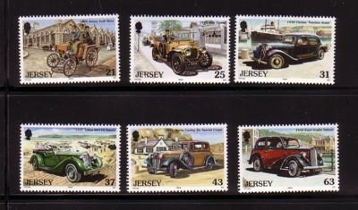 Jersey  Sc 903-8 1999 Classic Cars stamp set mint NH