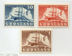 Greenland - Sc# 35 - 37 / Facit# 33 - 35 MH    -   Lot 0420709