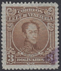 Venezuela 1932-38 3b Brown. Used. Scott 303, SG 424