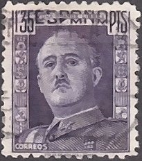 Spain # 715a used ~ 1.35p General Franco