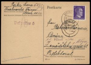 3rd Reich Germany 1943 Concentration Camp Buchenwald Cover 91927