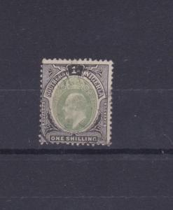 SOUTHERN NIGERIA  1903 - 04  S G 16  ONE SHILLING GREEN & BLACK USED