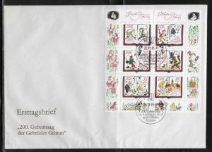German Democratic Republic 2515 Brothers Grimm s.s. Unaddressed FDC