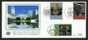 UNITED NATIONS  2006 LIMITED EDITIOON HOLGRAM TRIPLE CANCEL SILK CACHETED FDC
