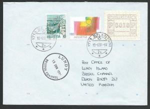 SWITZERLAND TO LUNDY 1991 cover - arrival cds..............................48781