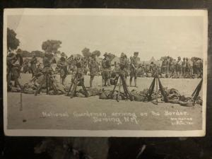 1917 Deming NM USA RPPC Postcard Cover Mexico Revolution National Guard Soldiers