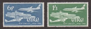 Ireland  #177-178   MNH  1960  Air Lingus   Boeing  airport