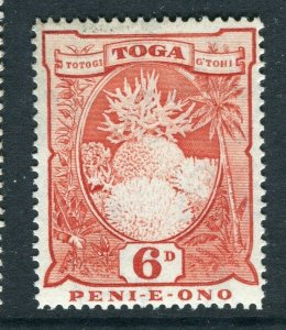 TONGA; 1897early Pictorial issue Mint hinged 6d. value