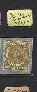 BRITISH EAST AFRICA (P1809B)  LION  QV 5 A  SG  72 PIECE MOMBASA SON CDS    VFU