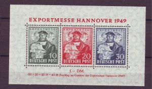 Z875 JLstamps 1949 germany mlh s/s #b664a see details