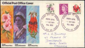 Australia, Worldwide First Day Cover, Flowers
